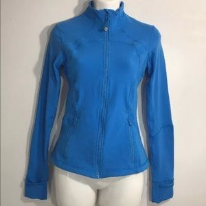 Lululemon Define jacket rocksteady blue Sz 4 EuC
